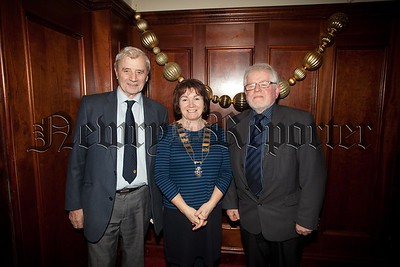 Rotary President Frances Caherty is pictured with Ulick Staunton and Tom Moore. R1551041
