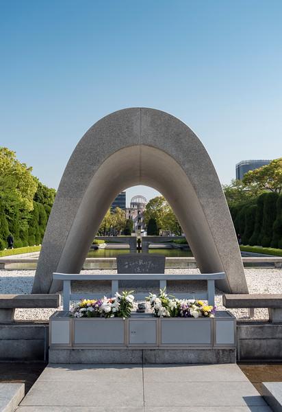 Cenotaph for A-Bomb Victims, Hiroshima Peace Memorial Park, Japan