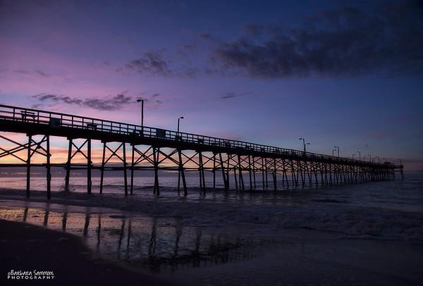 Sunrise over Yaupon Beach Fishing Pier - Oak Island, NC