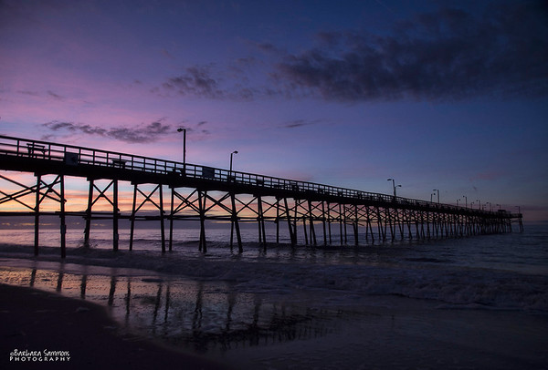 Sunrise over Yaupon Beach Fishing Pier - Oak Island, NC