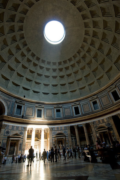 Inside the Pantheon in Rome, Italy