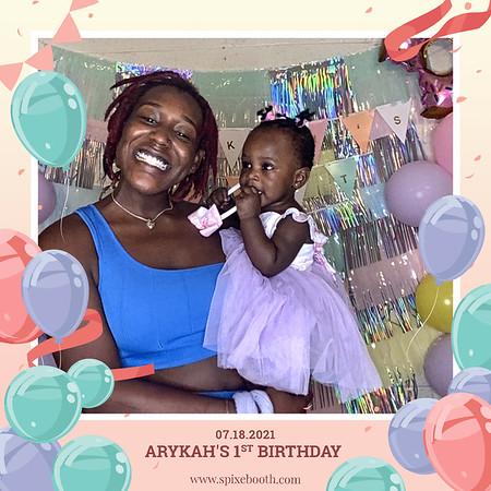 Arykah's 1st Birthday