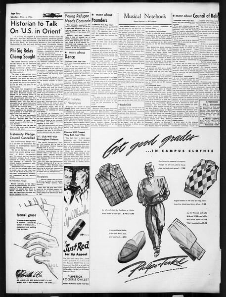 Daily Trojan, Vol. 38, No. 36, November 04, 1946