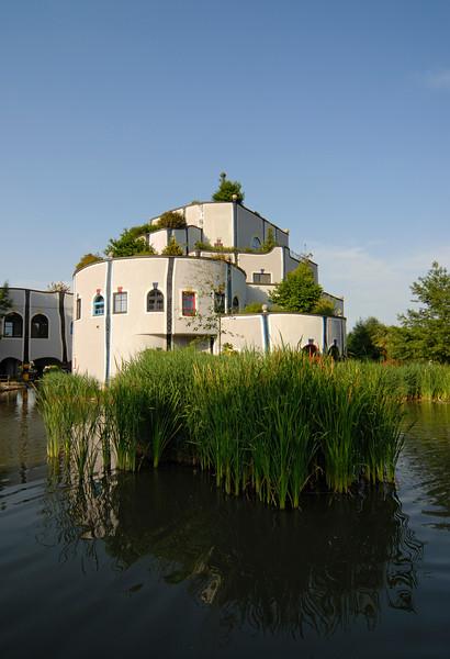 Rogner Thermal Spa and Hotel Designed by Friedensreich Hundertwasser in Bad Blumau, Austria.