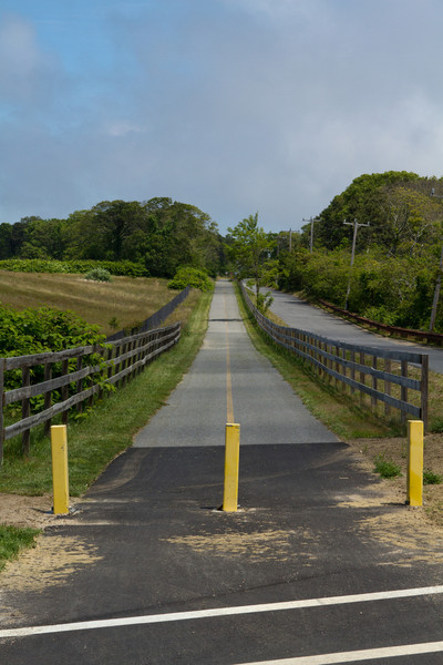 The Cape Cod Rail Trail (Old Colony line).  Rail trails are so straight!
