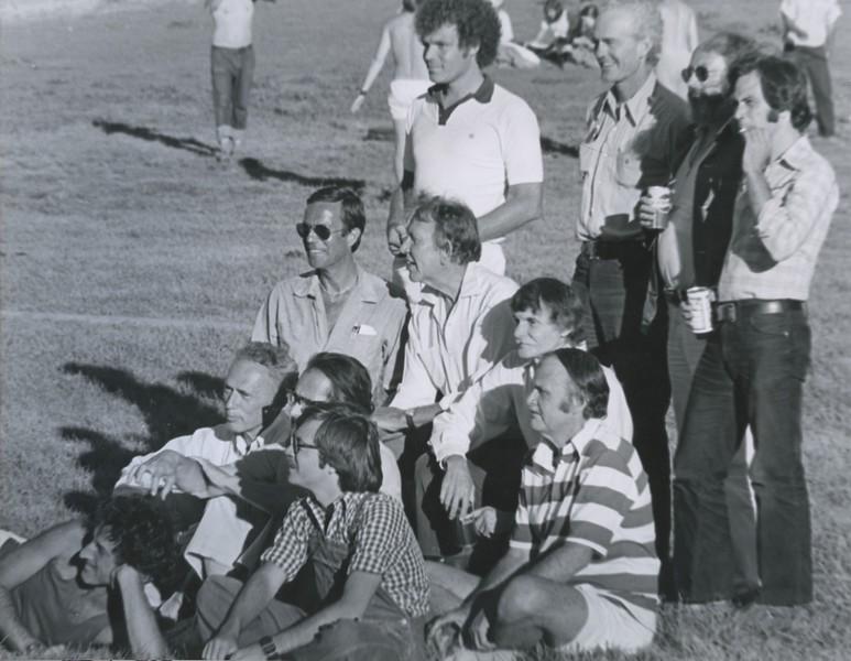 1974 - Group shot outside w Oakley Hall.jpeg