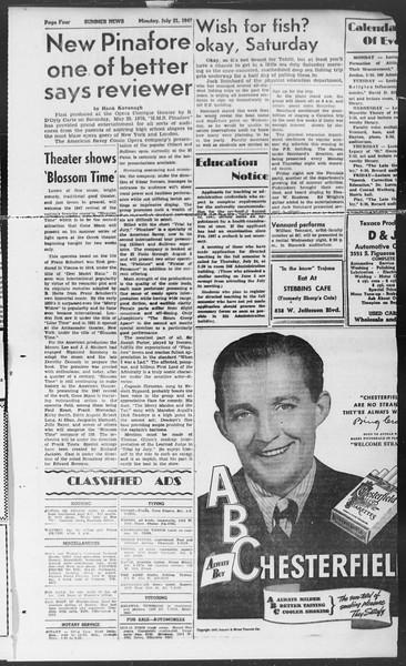 Summer News, Vol. 2, No. 12, July 21, 1947