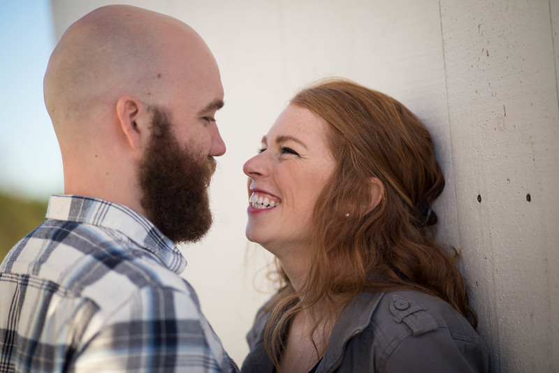 Engagement smiles at Shelburne Farms
