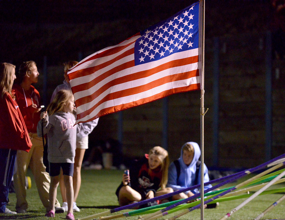 . 05-03-2013-(LANG Staff Photo by Sean Hiller)-  Spectators at the Bay League track and field finals Friday night at Mira Costa High School.