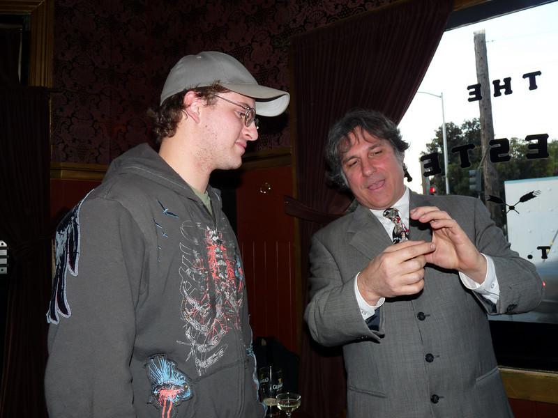 A friend and John Regan