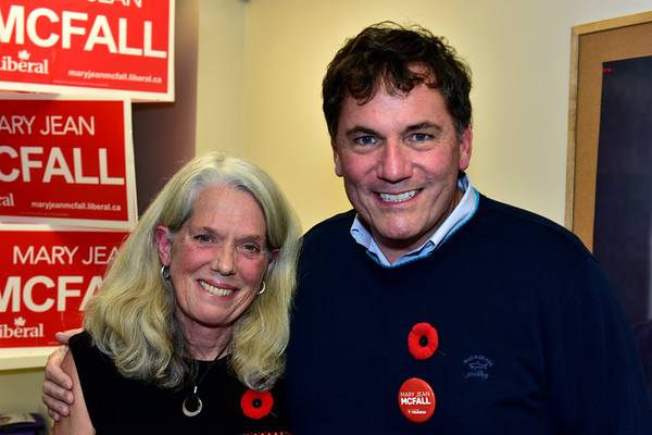 Dominic LeBlanc and Mary Jean McFall