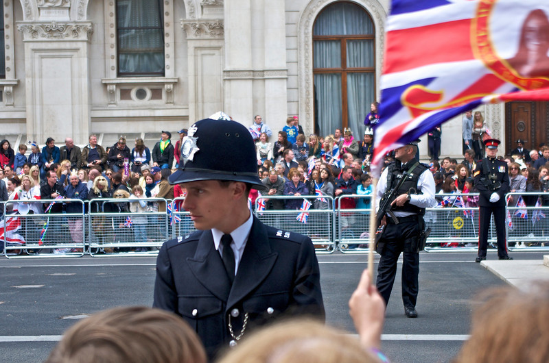 Royal Wedding – the ladies loved this young constable.