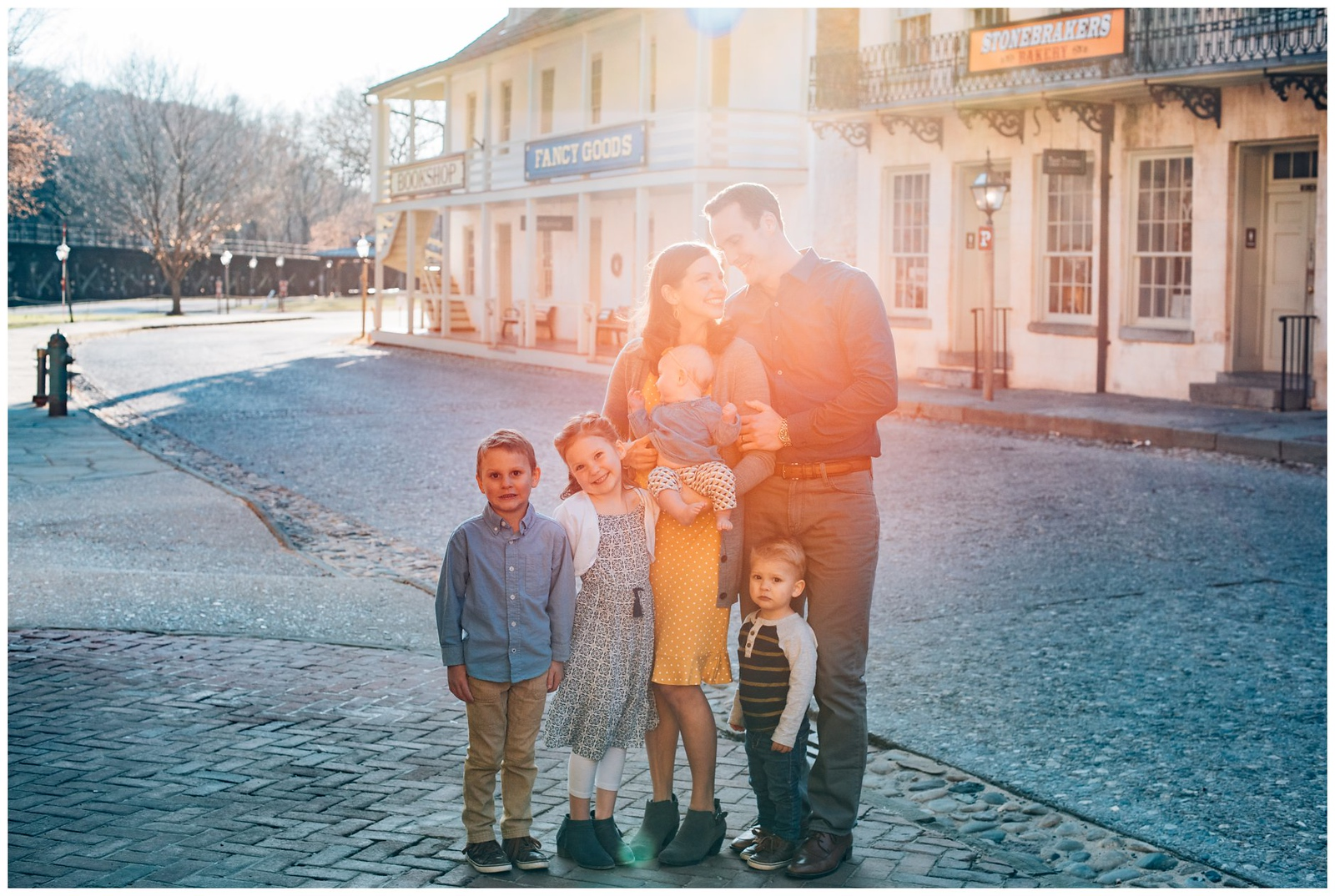 glowy family photos