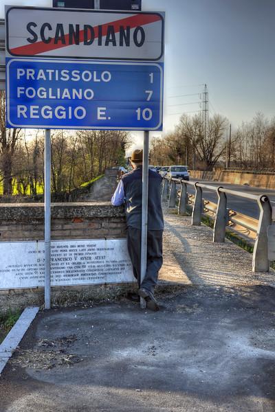 Scandiano City Limits - Scandiano, Reggio Emilia, Italy - March 20, 2011