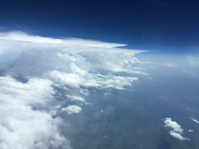 West TX Thunderstorm Line at FL400