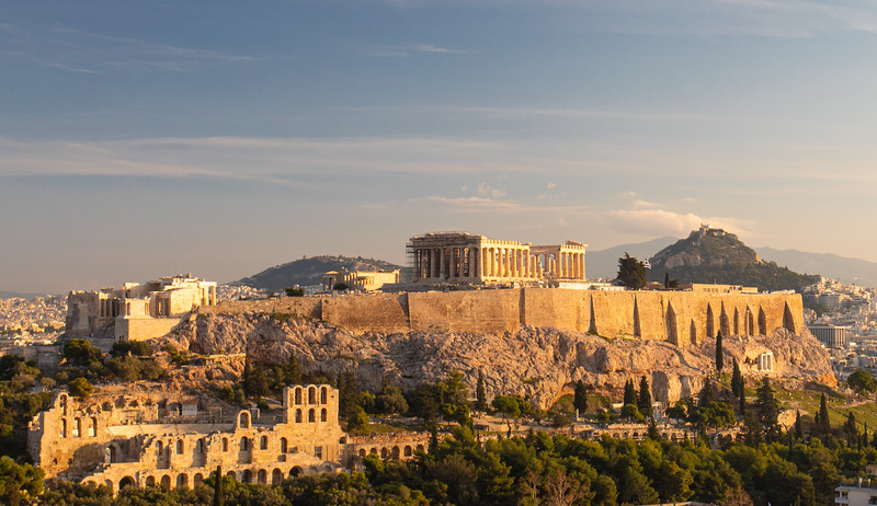 Sunrise at the Acropolis of Athens