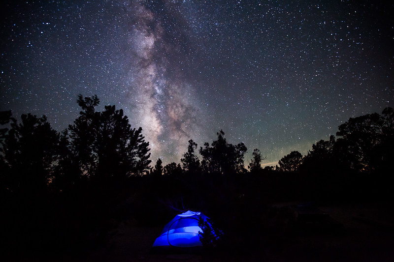 Our camp site in the Grandview Campgrounds, Near the Ancient Bristlecone Pine Forest.