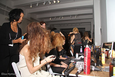 Backstage at Louis Valenzuela at the Green Shows September 2010
