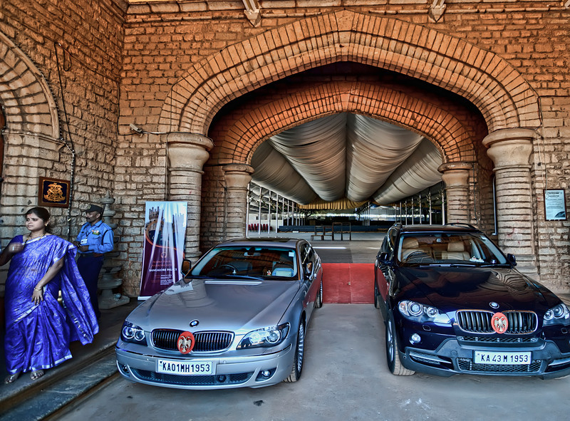 The Maharaja's Garage (complete with Tuesday's & Wednesday's cars)-Bangalore India