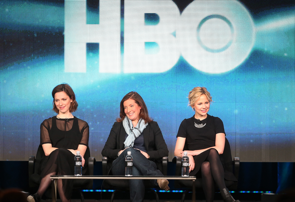Description of . Actress Rebecca Hall, director Susanna White, and actress Adelaide Clemens speak onstage during the