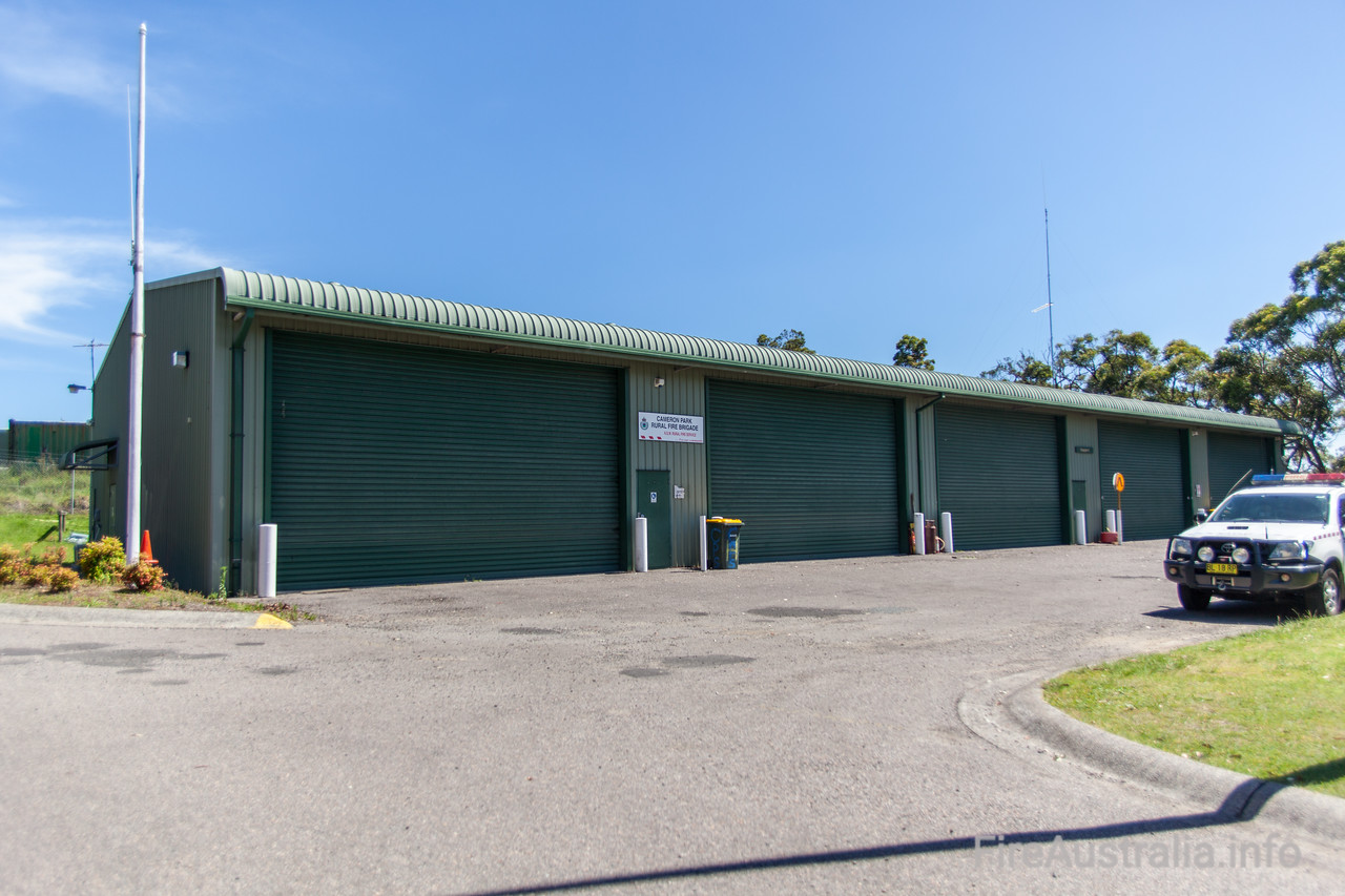 NSWRFS Cameron Park Fire Station. <br /> Lake Macquarie District, The Lakes Zone. <br /> <br /> Photo December 2013