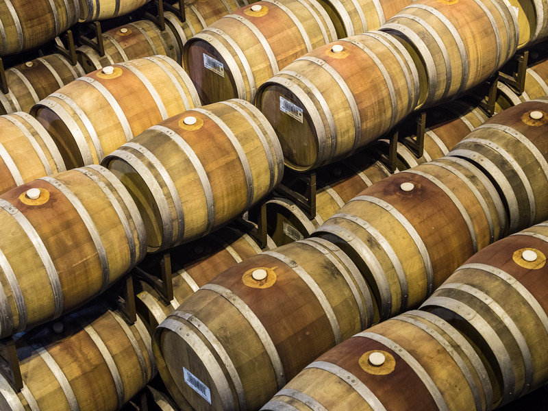 Wine Aging in Oak Barrels