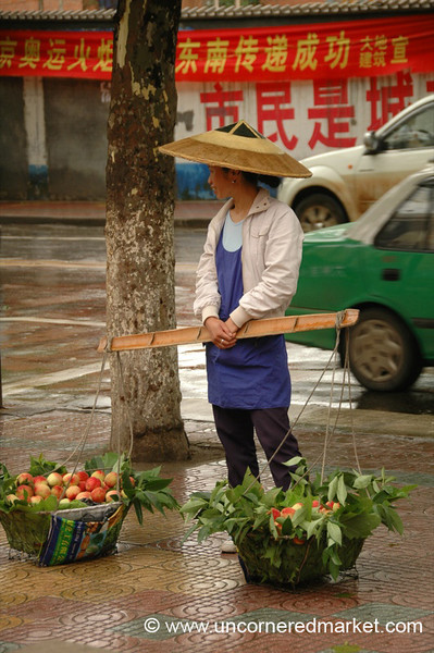 Apples for Sale - Guizhou Province, China