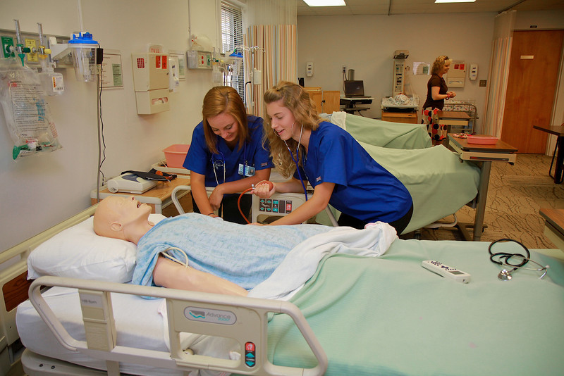 Local area high school students participate in classrooms and labs at Gardner-Webb's Code Teen Nursing Event; June 22, 2011.
