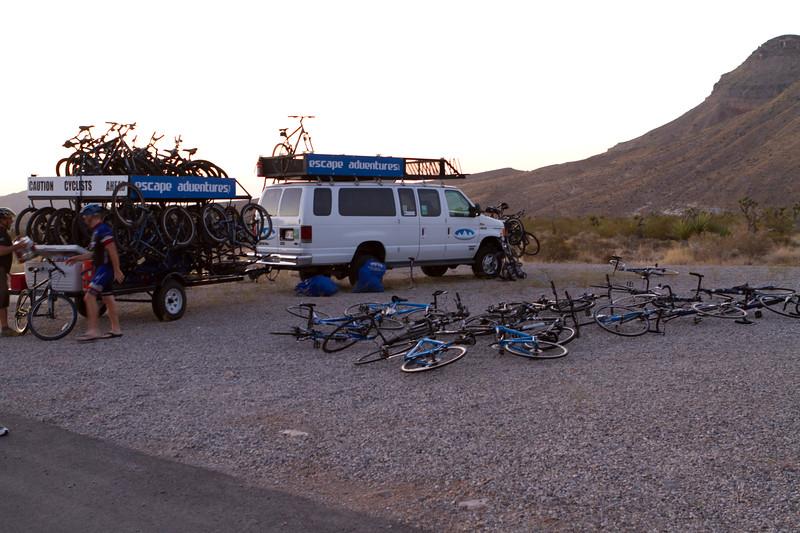 Our Bike tour gets set up