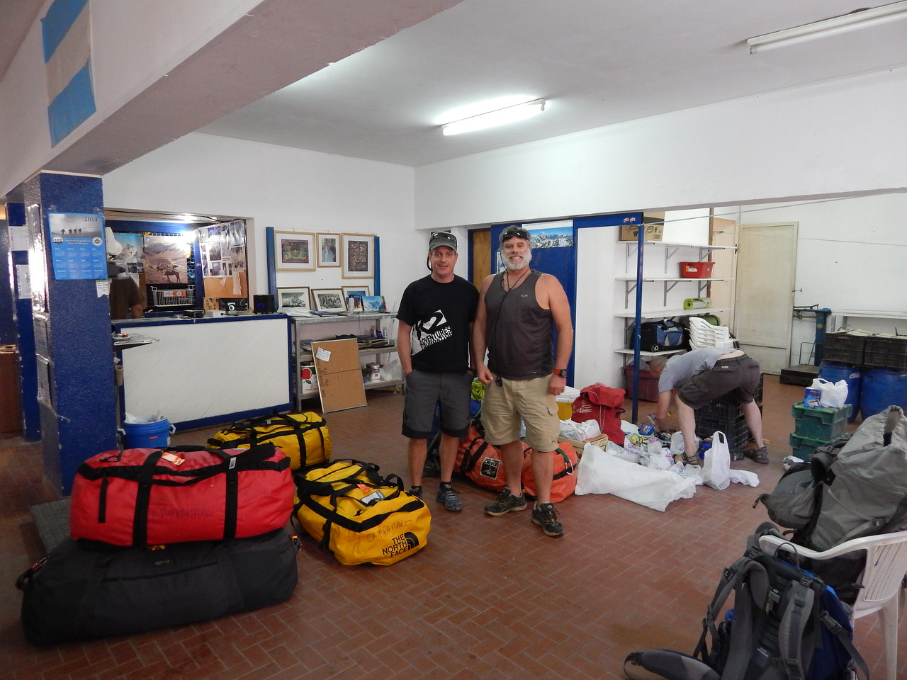 Night before we head to mountain. Organizing all our gear and food.