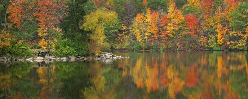 Fall Reflections - Findley State Park - Wellington, Ohio