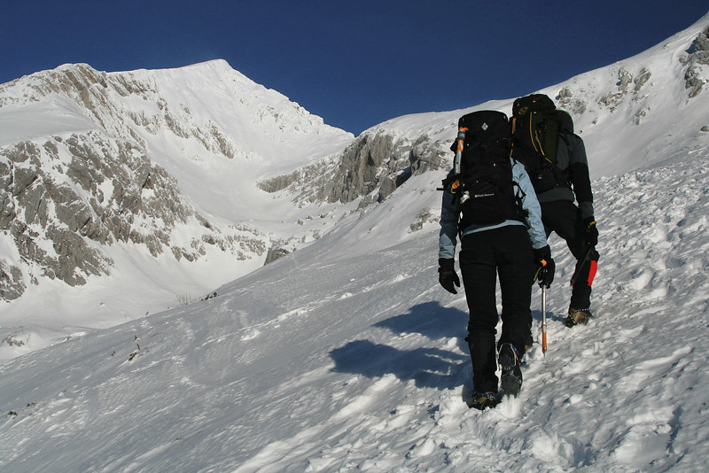 Towards the top