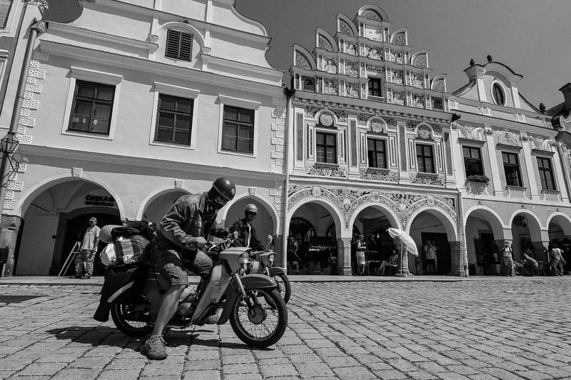 Motorkári, Telč, Čechy