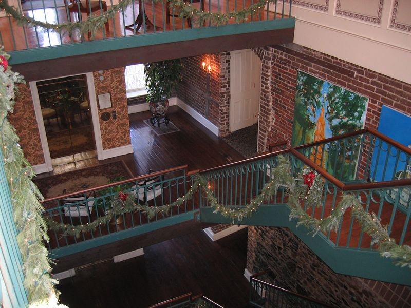 Inside of the hotel we stayed at in Savannah. Right on the river.