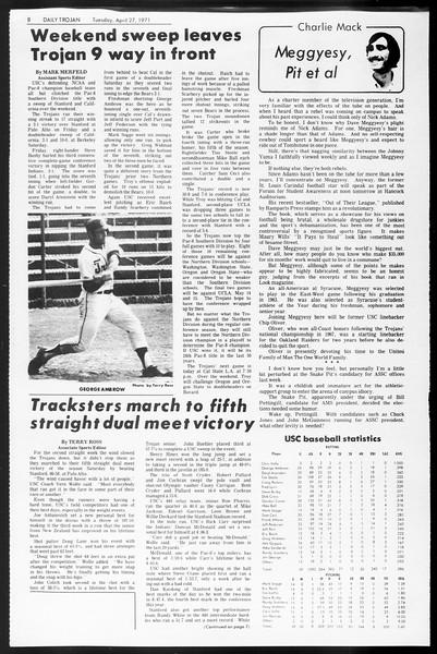 Daily Trojan, Vol. 62, No. 111, April 27, 1971