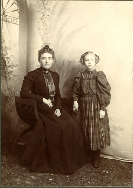 Orpha & Hattie Mapes- daughters of Alvin and Sarah Mapes