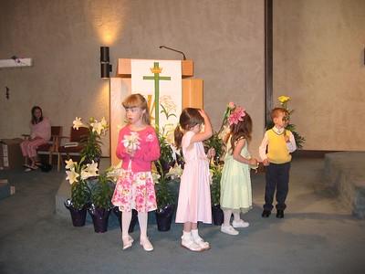 Katie's Easter Choir