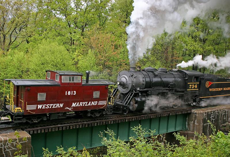WMSR photo freight 5-12-08 Western Maryland Scenic Railroad
