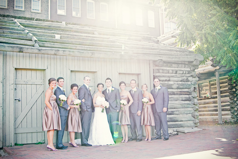 wedding party in fort nashborough