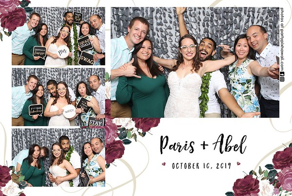 Paris & Abel's Wedding (Mini LED Oepn Air Photo Booth)