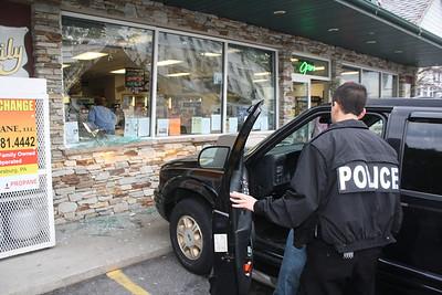 SUV Strikes Tamaqua Business, Our Family Mini Mart, Tamaqua (4-25-2012)