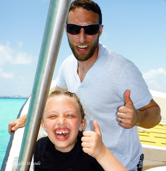Sophia and Michael ready to snorkel too
