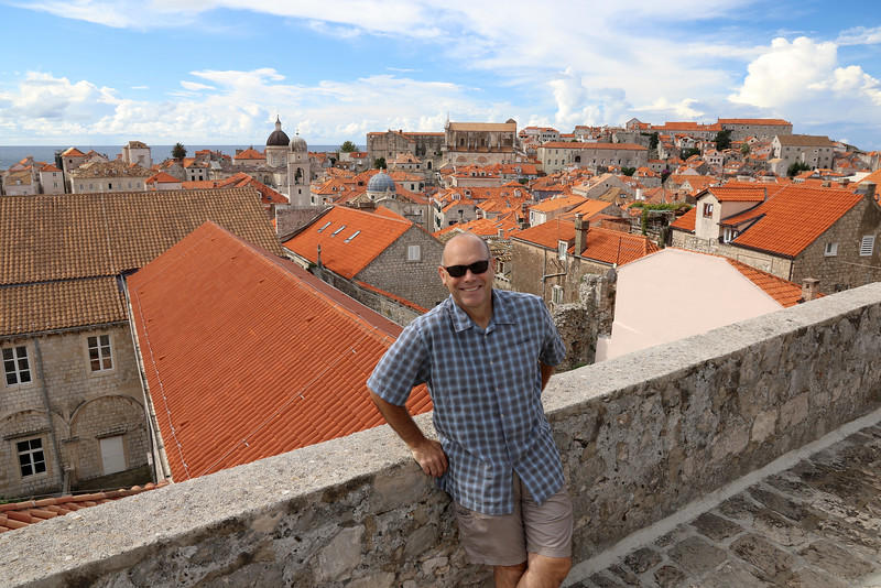 Enjoying the view from the city walls - Dubrovnik