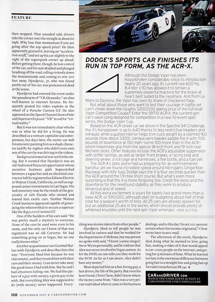 Car and Driver Magazine - November 2010