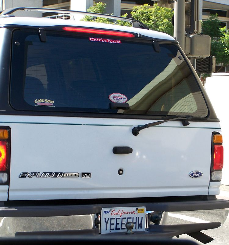 Monday: The same woman's car, as her license plate was somewhat humorous.