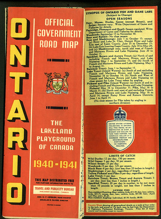 Ontario Official Highway Map 1940-41