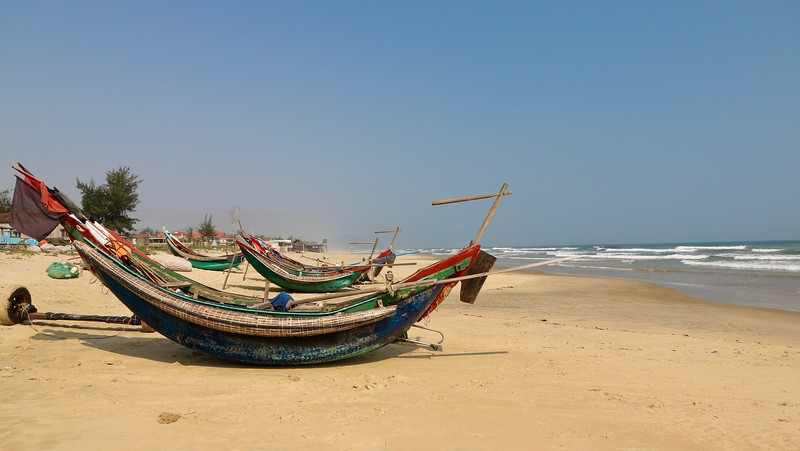 Along the way from Hue to Hoi An - Lang Co Beach
