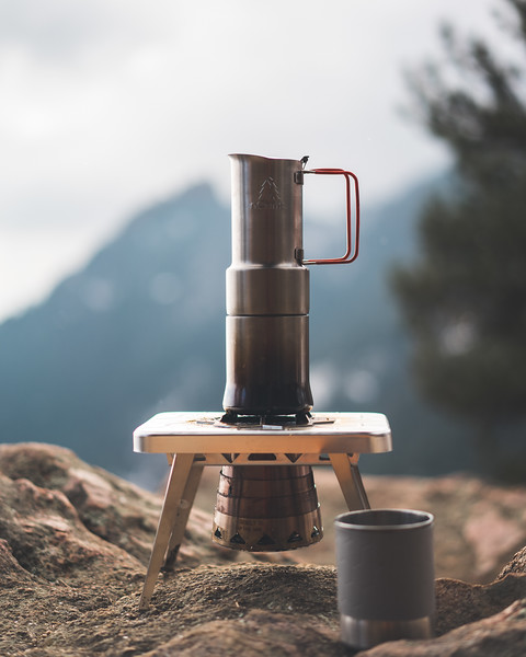 Product Photography | Outdoor Gear | nCamp Wood Burning Camp Stove