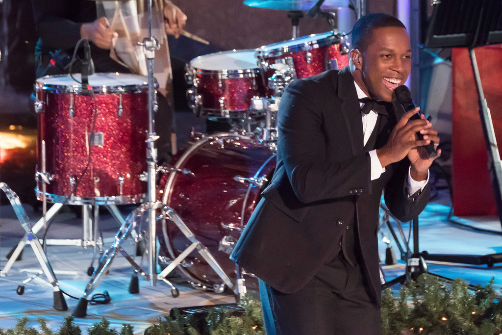 . Leslie Odom Jr. performs during the 85th annual Rockefeller Center Christmas Tree lighting ceremony on Wednesday, Nov. 29, 2017, in New York. (Photo by Charles Sykes/Invision/AP)