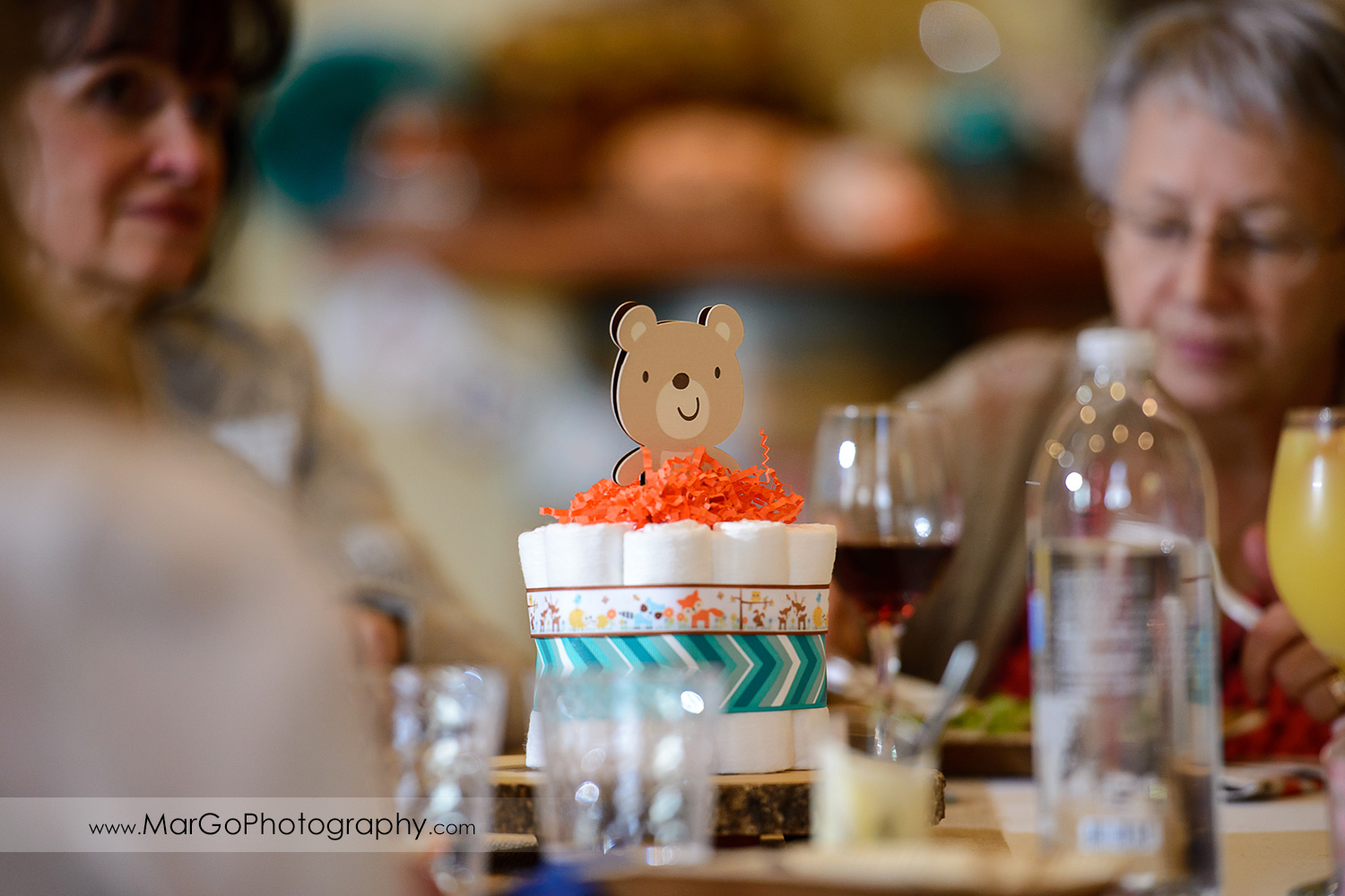 baby shower bear table centerpiece, Windmill Ridge Winery